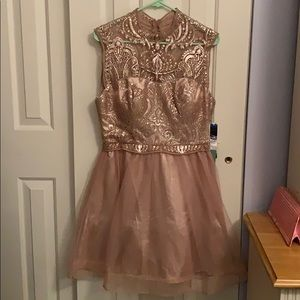 NEW Prom Homecoming dress nude pink size 13